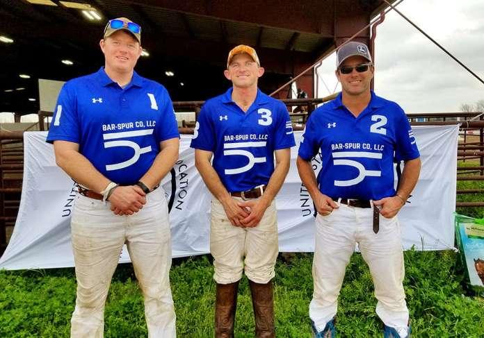 2020 Southwestern Circuit Arena Amateur Cup winners Bar-Spur (L to R) Ryan Owen, Brady Williams, Mark Osburn.