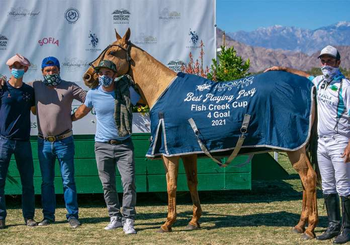 Best Playing Pony Lady played and owned by Luis Saracco, pictured with Ramon Dameno, Dario Gutierrez and Hugo Alesina.