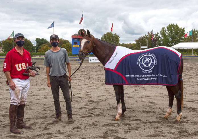 *Best Playing Pony Magnolia, played by Jake Flournoy, owned by German Noguera, pictured with Tomas Bauer (_DCS6166) ©Joanne Maisano