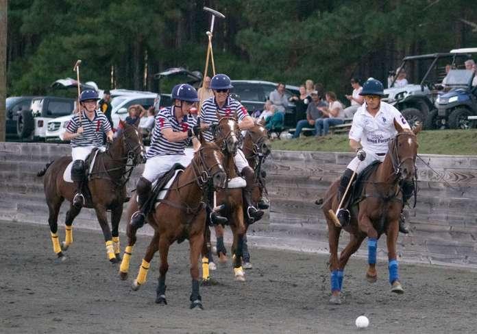 USPA Armed Forces Rob DiRado takes the ball on a breakaway.