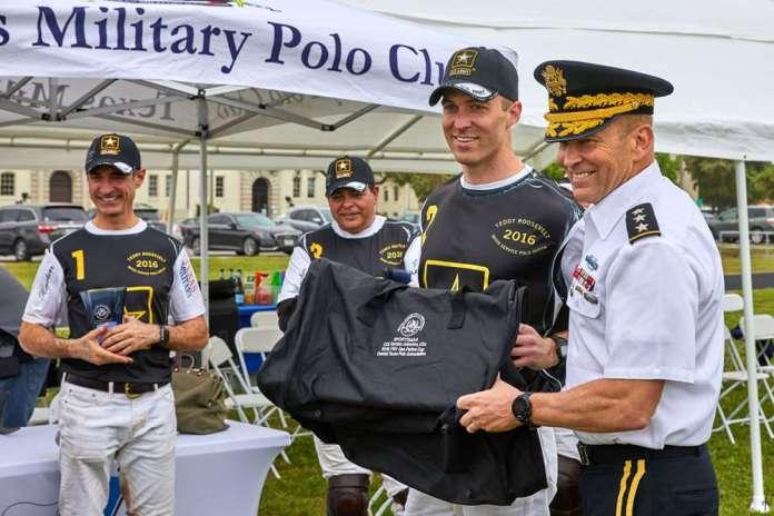 Col Gordon Johnston, USA, Sportsmanship Award was awarded to 2LT Walker Hobby, presented by Gen. Buchanan