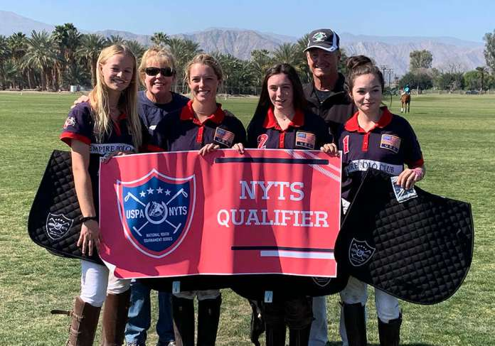 Empire Polo Club Junior Tournament Champions: Elise Pardue, Grace Parker, Hannah Stock, Simone Harper.