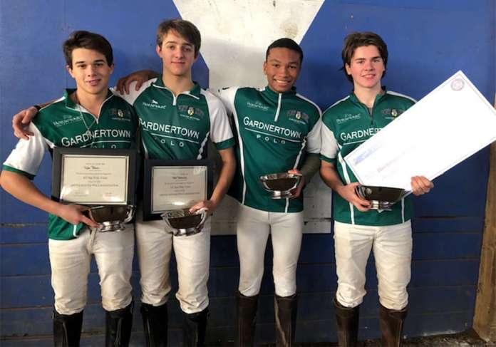 Northeastern Interscholastic Open Regional Champions: Gardnertown Polo Club Left to Right: Taylor Palacios, Vlad Tarashansky, Jonathan Wallace, Matteo Chaux
