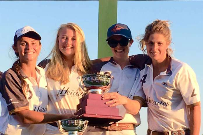 East Coast Handicap Women's Polo Championship winners Heiades International (L to R) Minnie Keating, Hannah Stowe, Lizzie Girard, Izzy Parsons.
