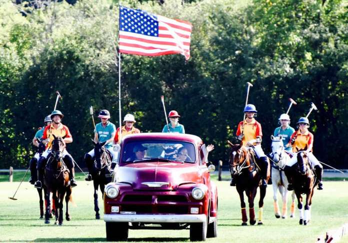 Ceremonial parade across the field to start off the game. ©Hey Jude World Photography