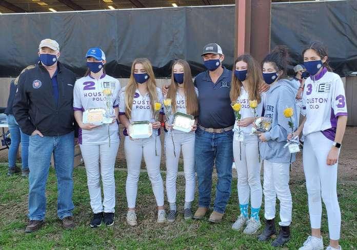 Girls Central Circuit I/I Club Challenge Cup Champions: Houston Polo Club- Steven Armour, Abby Benton, Bridget Price, Lily Lequerica, Mark Prinsloo, Madison Burba, Quin van der Hoeven, Mila Cocco.