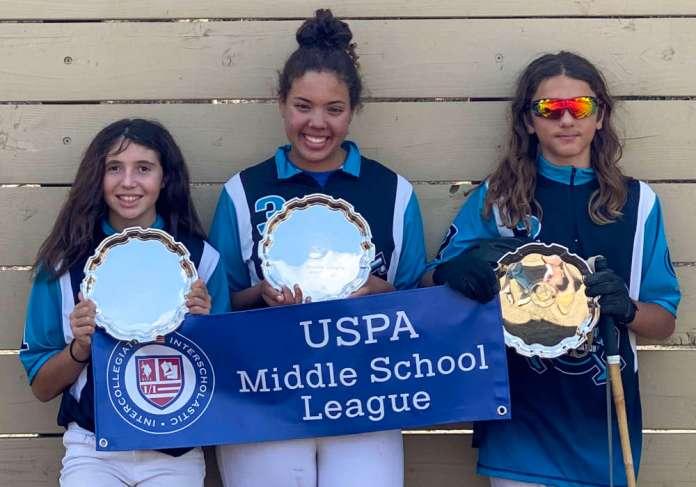 Lakeside Polo Club Middle School Tournament Champions: (L to R) Jordan Pearson, Emerson Bond, Luca Abboud