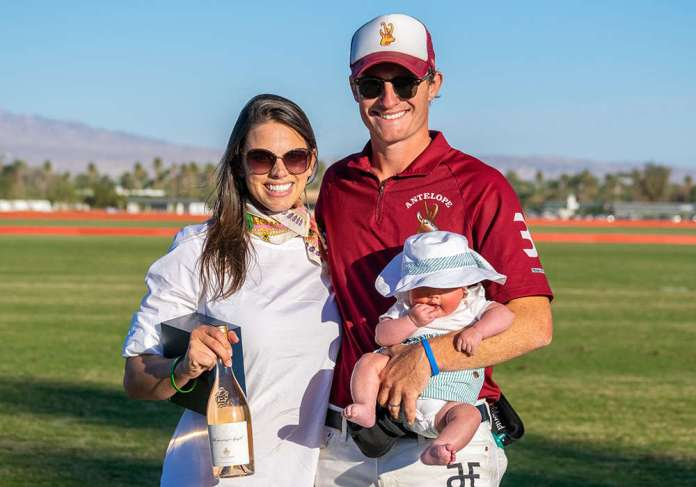 Most Valuable Player Jimmy Wright with wife Kristen Hiller and daughter Anna.