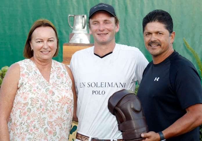 Most Valuable Player, Remy Muller, pictured with Kelly Smith and Alex Torres of Jackson Hole Horse Emporium.