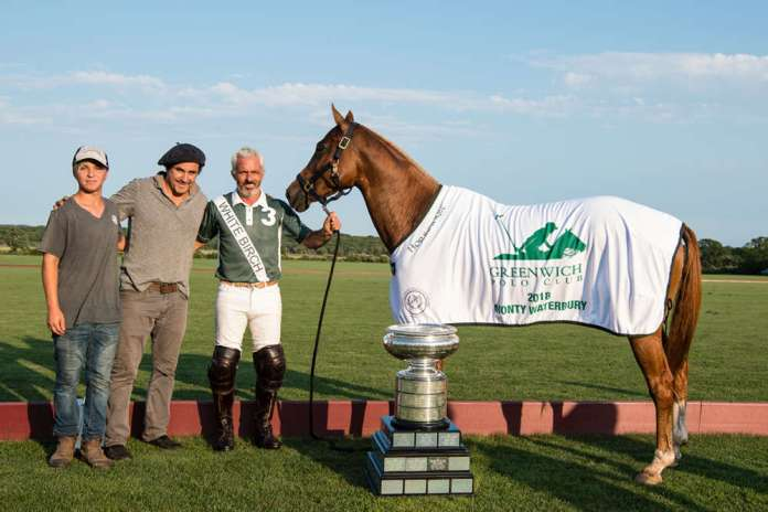 Best Playing Pony Machitos Yoko, owned and played by Mariano Aguerre pictured with Alejo Torrales and Copper.