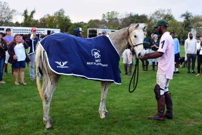 Best Playing Pony: Sugar, owned by Minnie Keating pictured with Daymar Rosser.