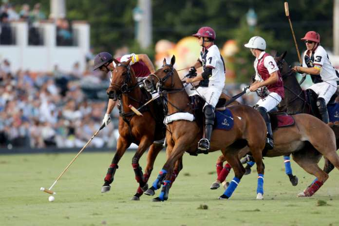 Pilot Facundo Pieres on the ball Dutta Corps Timmy Dutta on defense.