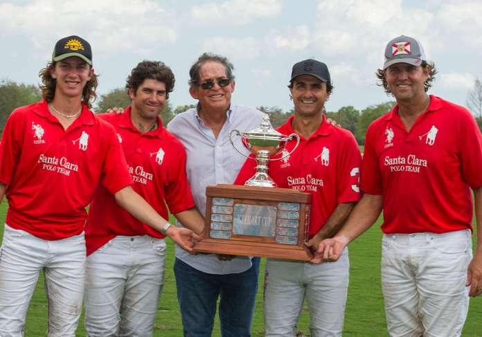 Iglehart Cup Champions: Santa Clara- Nico Escobar, Mariano Obregon Jr., Francisco Escobar, Ignacio Toccalino and Luis Escobar. ©Maria Garrahan