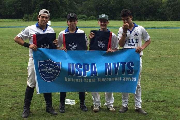 Simsbury Polo Club NYTS Qualifiers winners: White - (L to R) Taylor Palacios, Morgan Palacios, Noah Fioravanti, Oliver Wieser.