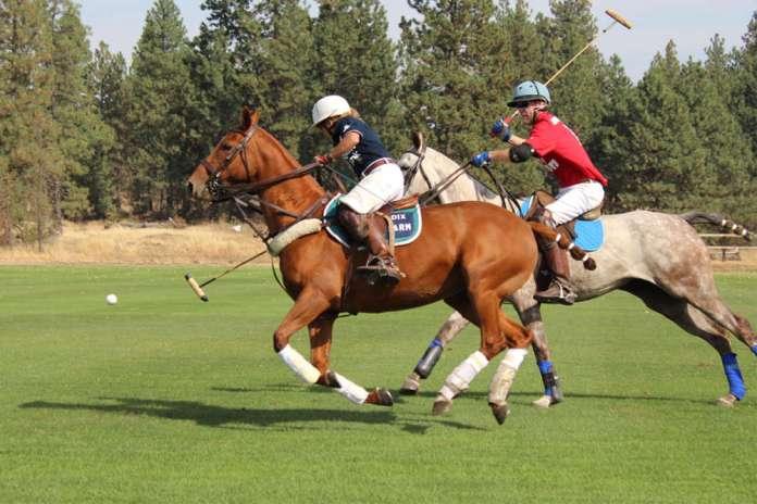 action at Spokane Polo Club