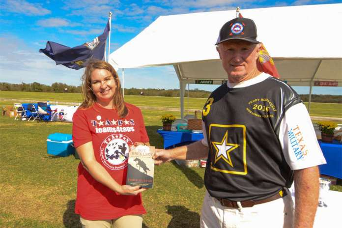 Tina Bray presents the Most Valuable Player Award to Jack Crea.