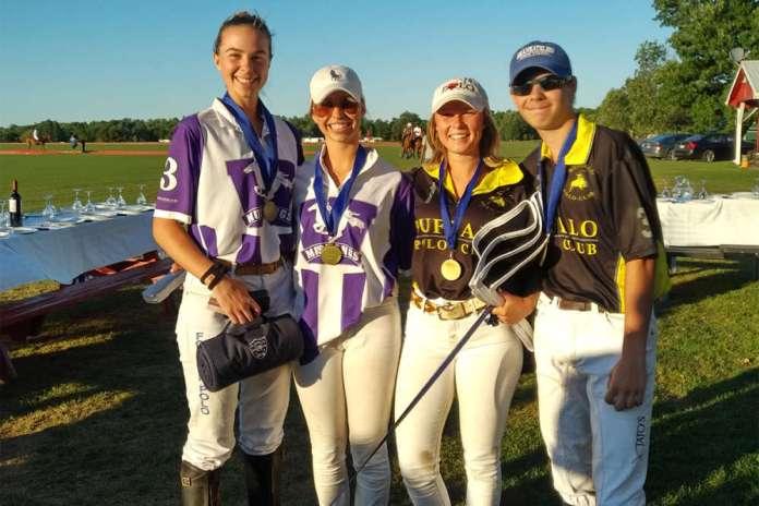 Toronto Polo Club NYTS Qualifier All-Stars (L to R) Jenna Tarshis, Molly Houlton, Clair Hearn, Hunter Van Der Burght.