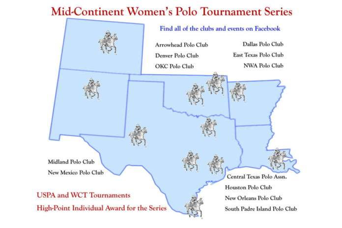 MID-CONTINENT WOMEN'S POLO TOURNAMENT SERIES Map