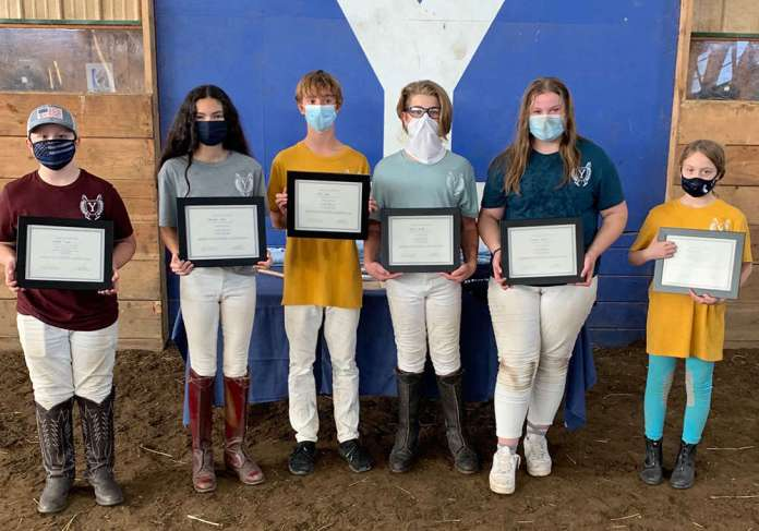 Yale Polo Club Northeastern Region Middle School Tournament Award winners.