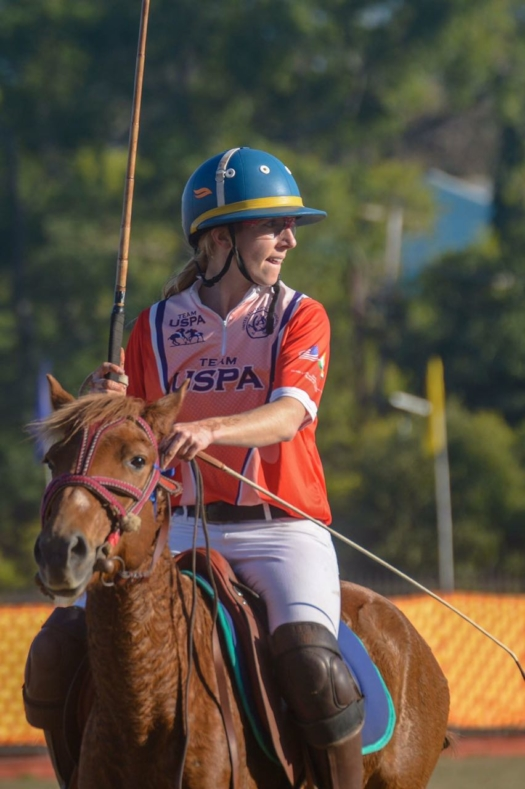 Team USPA's Stephanie Massey competes in Manipur in 2017. ©Manipur Photography Club.