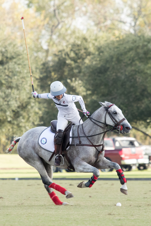 Dawn Jones competing in the 2018 U.S. Open Women's Polo Championship™. ©Kaylee Wroe.