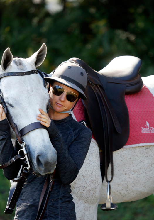 Santa Clara's commitment to horsemanship is a pillar of their polo philosophy, as displayed through the care and attention of their grooms. ©David Lominska