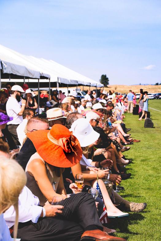 Crowd at Spokane Polo Club 13th Annual Cobra Polo Classic.