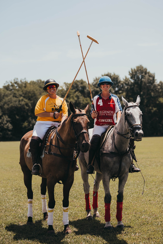 CCC Ranch's Jenny Vargas and Roxy Keyfauver of Legends Polo Team.