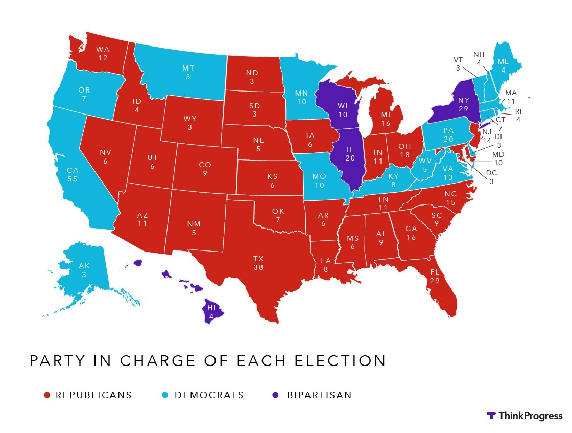 Leftwing Websites Also Predicting The Election Election Central - 2015 us election map