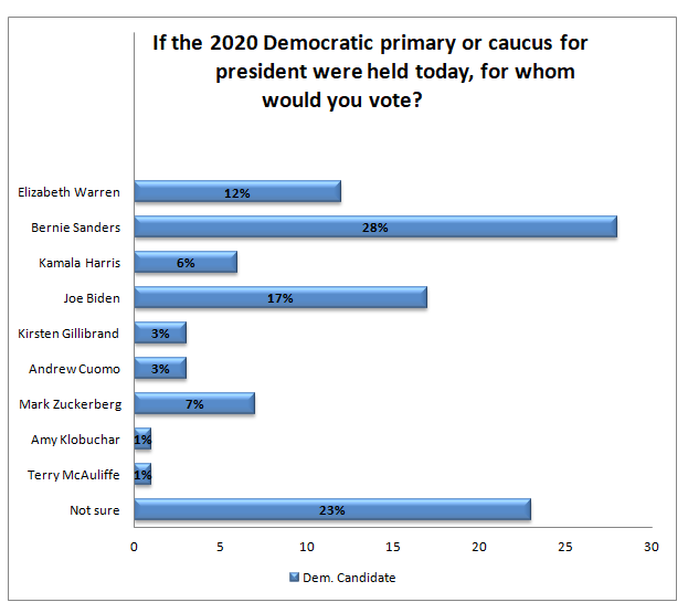 2020 Democratic Primary Poll