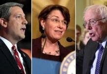 Tim Ryan, Amy Klobuchar, Bernie Sanders