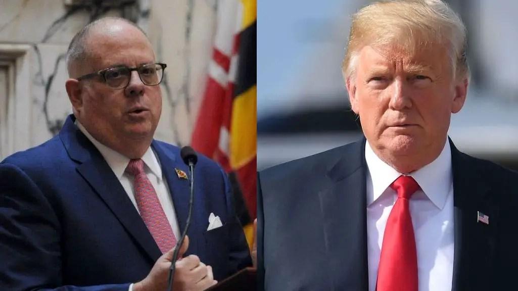 Larry Hogan and Donald Trump