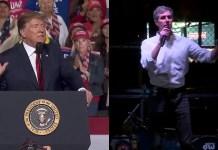 Trump Beto El Paso Rallies