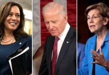 Kamala Harris Joe Biden Elizabeth Warren 2020