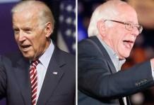 Joe Biden Bernie Sanders 2020