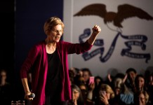 Elizabeth Warren first debate night