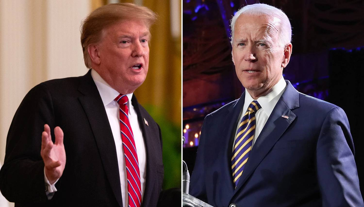 Biden Jokingly Challenges Trump to Push-up Challenge