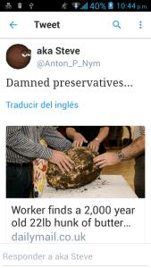 CAPTURA DE PANTALLA DEL TWITTER