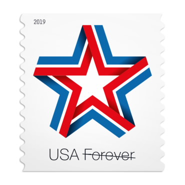 star ribbon stamp usps