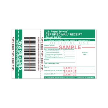 Certified Mail Receipt Usps Com