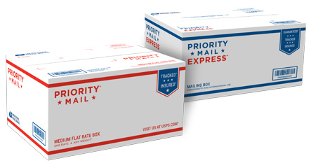 Dual-Use Priority Mail (Flat Rate)/Priority Mail Express (Weight & Zone) Box - 1