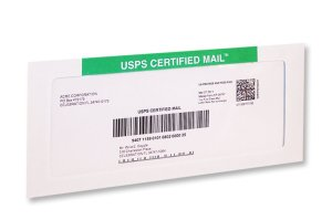 USPS Certified Mail Letter
