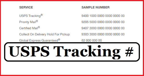 USPS Tracking Number Number Format Receipt