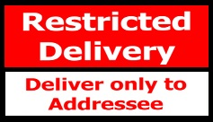 restricted delivery