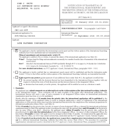 notification of transmittal of the international search report and the written opinion of the international searching [ 1653 x 2339 Pixel ]