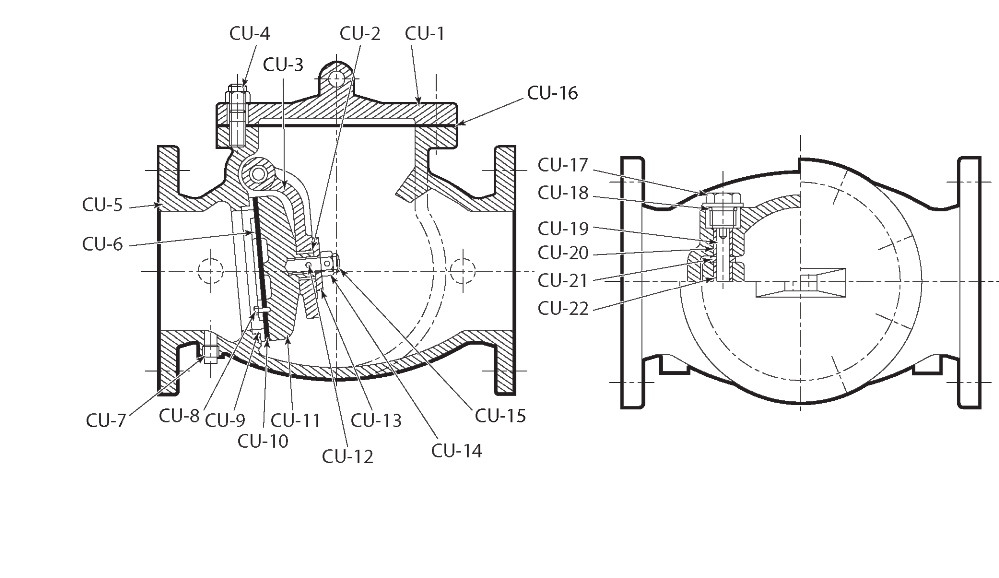 hight resolution of diagram of swing check valve