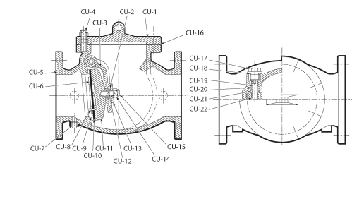 small resolution of diagram of swing check valve