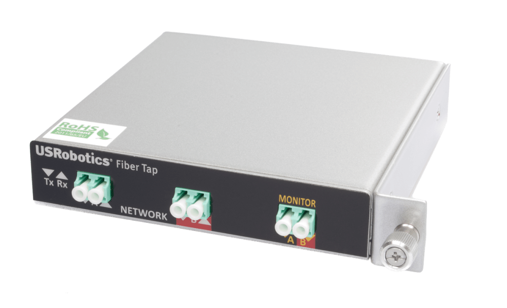 medium resolution of secure inline fiber tap