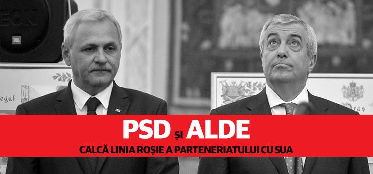 PSD și ALDE calcă linia roșie a parteneriatului cu SUA