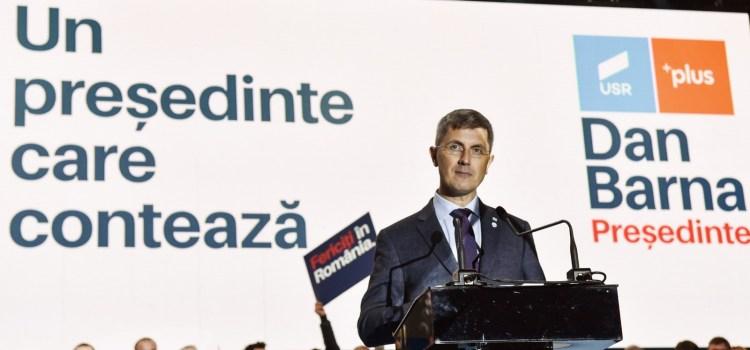 Dan Barna, candidatul Alianței USR PLUS la alegerile prezidențiale, la Sibiu: Voi fi Președintele care va reforma România